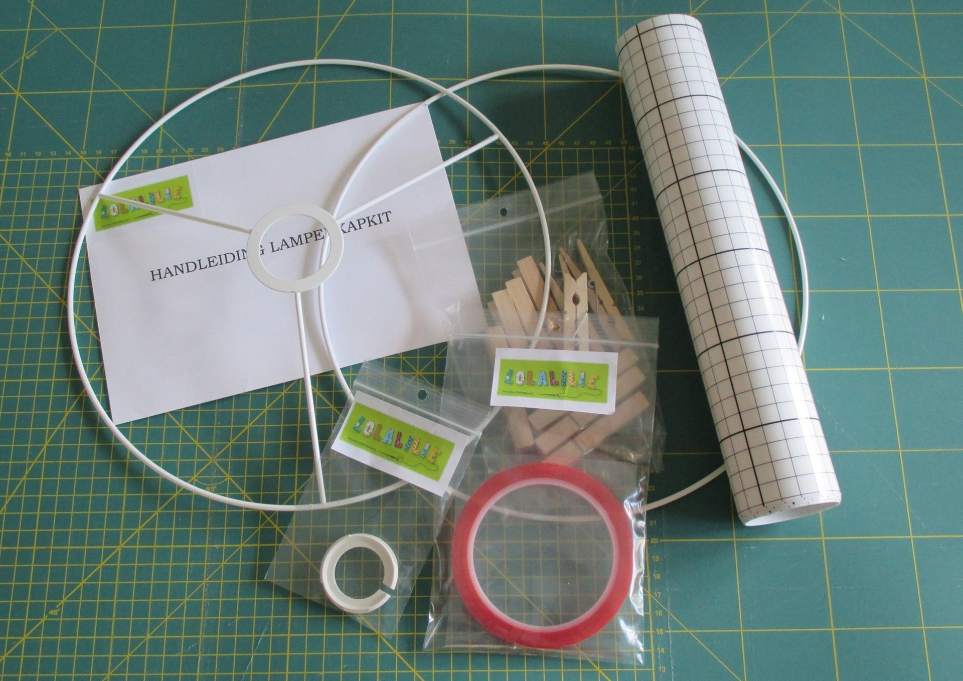 Lamp shade Components - Lolalilie:DIY kit lampshade round Ø 50 cm,Lighting
